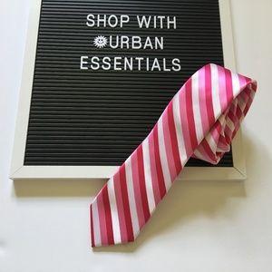 J Ferrar pink stripes necktie - NWOT